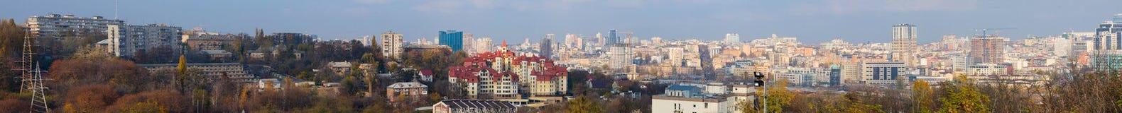 Panorama Kijów od wysokiego punktu zdjęcia stock