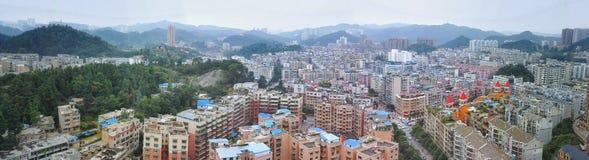 Panorama- Kina villegestad av guiyang Royaltyfria Bilder
