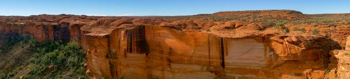 Panorama of the Kings Canyon, Watarrka National Park, Northern Territory, Australia. View into the Kings Canyon, Watarrka National Park, Northern Territory stock images