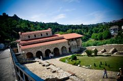 Panorama-Kirchen-heilige vierzig Märtyrer in alter Hauptstadt Veliko Tarnovo Bulgarien lizenzfreies stockfoto
