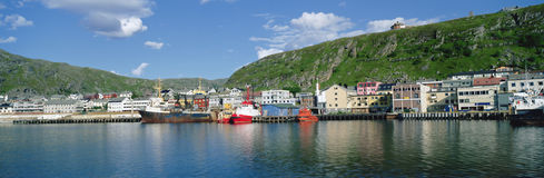 Panorama Kirkenes harbour Stock Photography