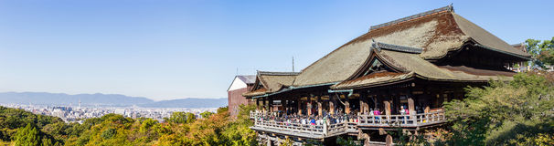 Panorama of Kiyomizu-dera Temple Kyoto, Japan Stock Photo