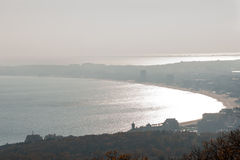 Panorama KK Sunny Beach in Bulgaria, winter Royalty Free Stock Images