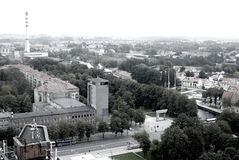 Panorama of Klaipeda, Lithuania Royalty Free Stock Photography