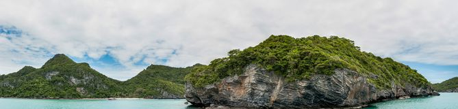 Panorama Koh Samui Ang Thong Islands national park Royalty Free Stock Photos