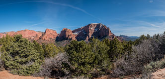 Panorama of the Kolob Canyons Royalty Free Stock Photo