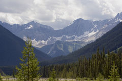 Panorama of the kootenay national park before a thunderstorm Royalty Free Stock Photos