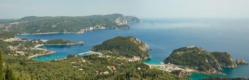 Panorama Korfu, Griechenland Stockfotos