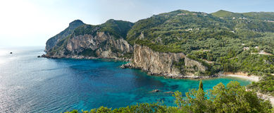 Panorama Korfu, Griechenland Lizenzfreies Stockfoto