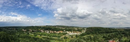 Panorama Kosmonosy, Czech Republic. Panorama of Central Bavarian town Kosmonosy near Mlada Boleslav Royalty Free Stock Photography