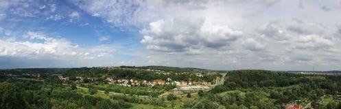 Panorama Kosmonosy, repubblica Ceca fotografia stock libera da diritti