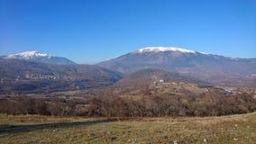 Panorama Kosovo de la montaña Imagen de archivo