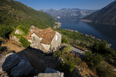 Panorama Kotor bay Royalty Free Stock Photography