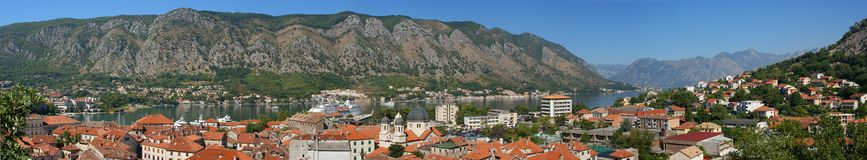 Panorama of Kotor, Montenegro Stock Image