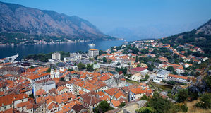 Panorama of the Kotor, Montenegro Stock Photos