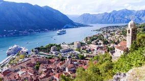 Panorama of Kotor in Montenegro Royalty Free Stock Images