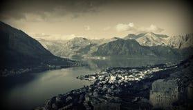 Panorama of Kotor, Montenegro Royalty Free Stock Photo