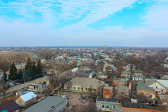 Panorama of Kozelets town from above Royalty Free Stock Image