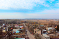 Panorama of Kozelets town from above Royalty Free Stock Photo
