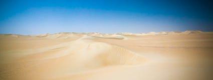 Panorama krajobraz przy Wielkim piaska morzem wokoło Siwa oazy, Egipt obraz stock