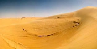 Panorama krajobraz przy Wielkim piaska morzem wokoło Siwa oazy, Egipt fotografia royalty free