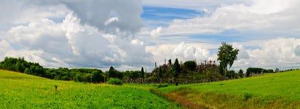 Panoramy wzgórze krzyże zdjęcie stock