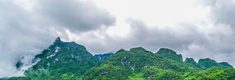 Panorama krajobraz Zielony natura krajobraz asfaltowa droga Fotografia Stock