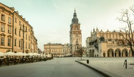 Panorama of Krakow old town royalty free stock image