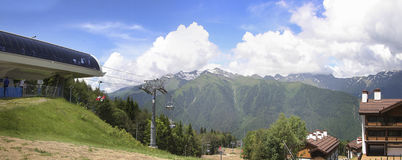 Panorama of Krasnaya Polyana Stock Photography