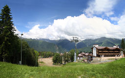 Panorama of Krasnaya Polyana Stock Photo
