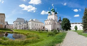Panorama of the Kremlin in city Rostov Stock Image