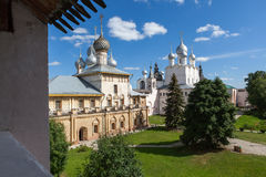 Panorama of the Kremlin in  city  Rostov Royalty Free Stock Image