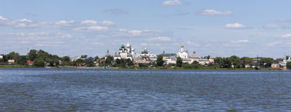 Panorama of the Kremlin in the city of Rostov Stock Photography