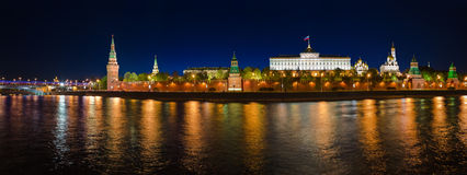 Panorama of Kremlin in Moscow Royalty Free Stock Images