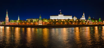 Panorama of Kremlin in Moscow Stock Image
