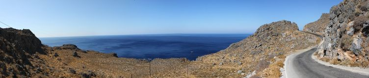 Panorama in Kreta stock afbeelding