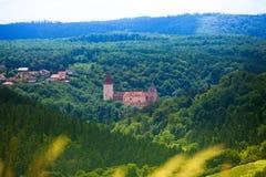 Panorama of Krivoklat castle Royalty Free Stock Photos