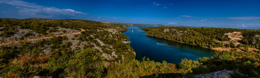 Panorama of Krka National Park is one of Croatian Stock Photo