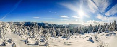 Panorama Krkonošský národní park royalty free stock photos