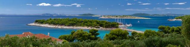 Panorama Kroatië Murter Stock Afbeeldingen