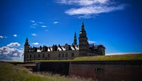 Panorama Kronborg kasztel w Helsingor, Dani zdjęcie stock