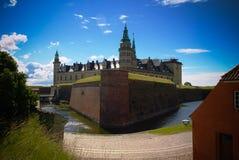Panorama Kronborg kasztel w Helsingor, Dani obraz stock