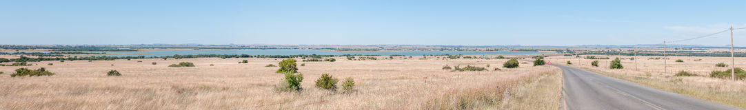 Panorama of the Krugersdrif Dam Stock Photography