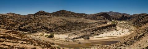 Panorama of the Kuiseb canyon stock photography