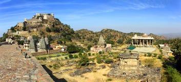 Panorama kumbhalgarh fort w ind obraz stock