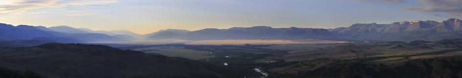 Panorama of Kuray mountain range and North Chuya Stock Images