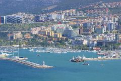 Panorama of Kusadasi in Turkey Royalty Free Stock Photo