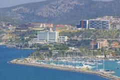 Panorama of Kusadasi in Turkey Royalty Free Stock Images