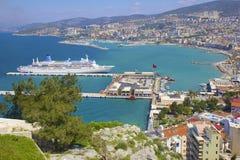 Panorama of Kusadasi in Turkey Stock Photography