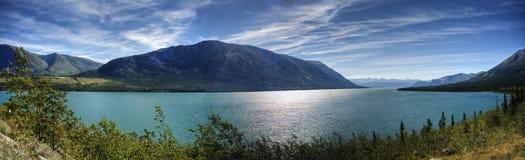 Panorama of Kusawa Lake royalty free stock photography